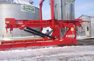 A-Ward-Grain-Unloading-In-The-Snow